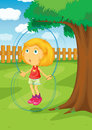 In the park illustration of kids Royalty Free Stock Photo
