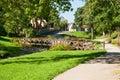 Park in Kuldiga, Latvia Royalty Free Stock Photo
