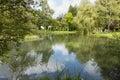 Park Lake In Grainau, Germany