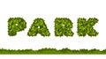 Park letters leaves