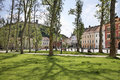 Park in Ljubljana town. Slovenija Royalty Free Stock Photo