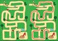 Park maze Stock Images