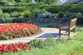 Park memorial garden photo of a peaceful in whitstable kent Royalty Free Stock Photo