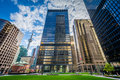 Park and modern buildings in downtown toronto ontario Stock Image