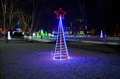 Park named belousov night christmas decoration Royalty Free Stock Photo