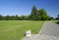 The park near castle Cerveny Kamen