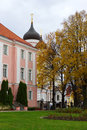 Park next to the alexander nevsky cathedral in tallinn estonia Stock Photography
