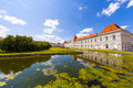 Park in nymphenburg castle munich under blue sky Royalty Free Stock Images