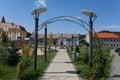 Park in ocna sibiu romania central sunny day http amfostacolo ro pareri sibiului descopera sibiului impresii Stock Images