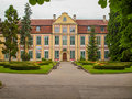 Park in Oliwa palace the Opatow, Poland. Royalty Free Stock Photo