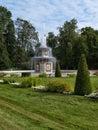 Park in peterhof in russia of grand palace saint petersburg Stock Image