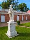 Park in peterhof in russia of grand palace saint petersburg Stock Images