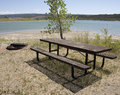 Park picnic table Stock Photography