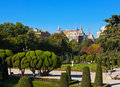 Park of the Pleasant Retreat in Madrid Spain Royalty Free Stock Image
