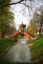 Park in Pushkin, Russia Stock Photo