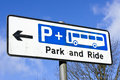 Park and ride Royalty Free Stock Photo