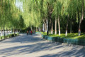 Park road the landscape of yumen river in taiyuan shanxi china Royalty Free Stock Photos
