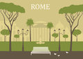 Park in rome vector illustration Stock Photo