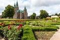 Park and Rosenborg Castle in Copenhagen, Denmark. Royalty Free Stock Photo