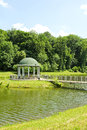 Park with a rotunda beautiful summer and paths Stock Photo