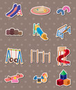 Park stickers Stock Image