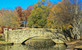 Park with Stone Bridge 1 Royalty Free Stock Photo
