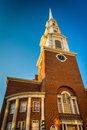 Park street church in boston massachusetts Stock Photo