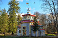 The park tsarskoye selo russia pavilion in chinese style in Royalty Free Stock Photos