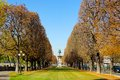 A park view in paris it was autumn day Stock Photography