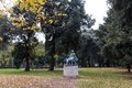 Park of villa Borghese in Rome, Italy