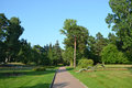 Park in Zelenogorsk. Royalty Free Stock Photo