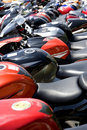 Parked Motorcycles Stock Images