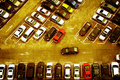 Parking cars in the lot Royalty Free Stock Images