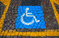 Parking for disabled cars and signal the Royalty Free Stock Images