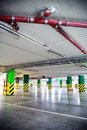 Parking garage, underground interior Royalty Free Stock Images