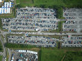 Parking lot aerial view from Stock Image