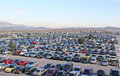 Parking Lot Full of Cars Royalty Free Stock Photo