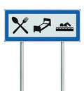 Parking Lot Road Sign Isolated Restaurant Hotel Stock Photos