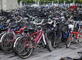 Parking lots Bicycles In Beijing,China Royalty Free Stock Photo