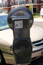 Parking Meter By Car Royalty Free Stock Photo