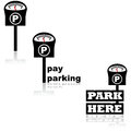 Parking meter icons Royalty Free Stock Photo