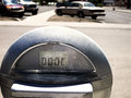 Parking Meter in Lot Royalty Free Stock Photo