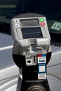 Parking meter modern solar new technology Royalty Free Stock Photos