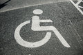 Parking place for the disabled with sign Stock Images