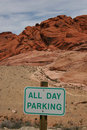 Parking at Red Rock Canyon Stock Images