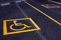 Parking reserved for disable people Stock Photos