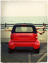 Royalty Free Stock Photos Parking by the Sea