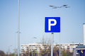 Parking Sign With Blue Sky Royalty Free Stock Photo