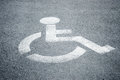 Parking sign for disabled people Royalty Free Stock Photo