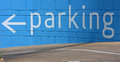 Parking sign at the entrance of garage Royalty Free Stock Photo